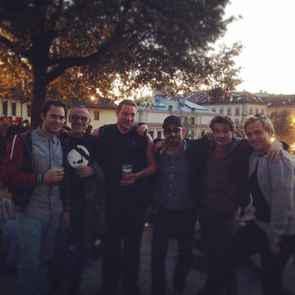 "Baptiste ""Bouli"" Amstutz, Remo Clematide, Roman ""P-Train"" Bruderer, St Plomb, Dollar Mambo und Sarna. Lausanne 2014"