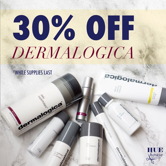 All Dermalogica products are 30% off right now at Hue House. Come and stock up on your skin care favorites! (while supplies last)