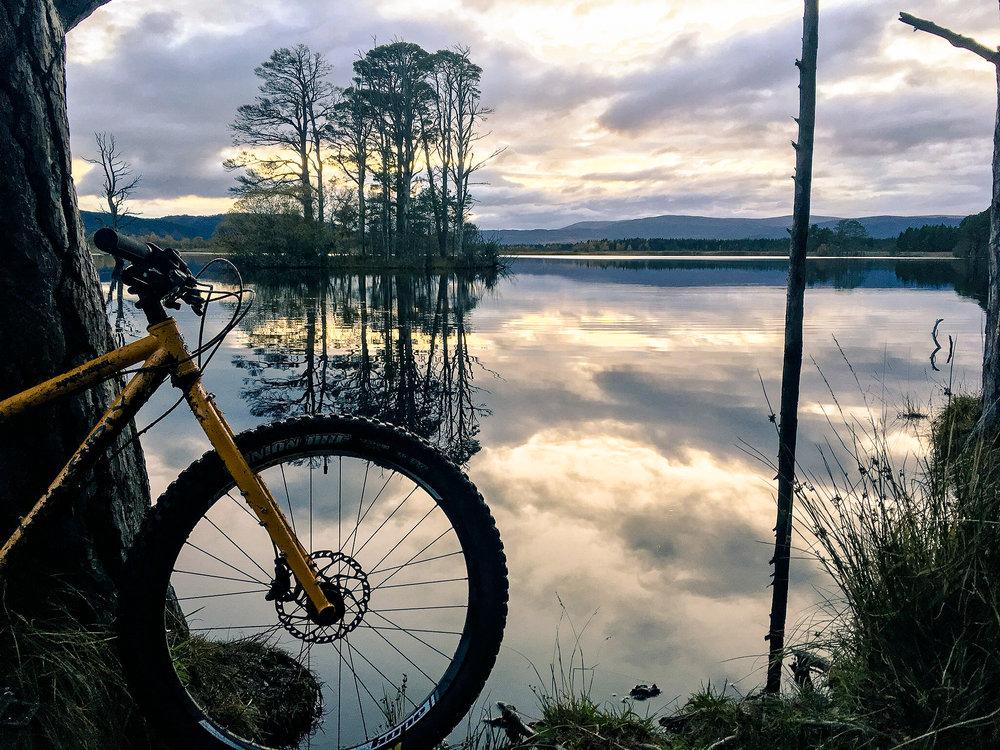 Loch Mallachie at dusk