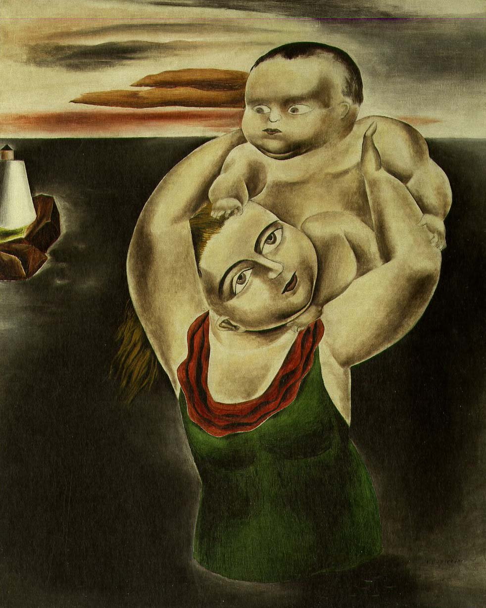 Child Frightened by Water, 1924