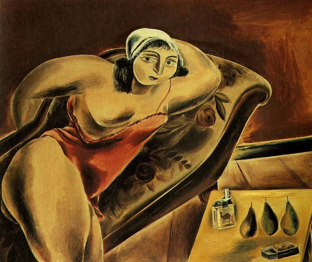 Girl on Sofa, 1925