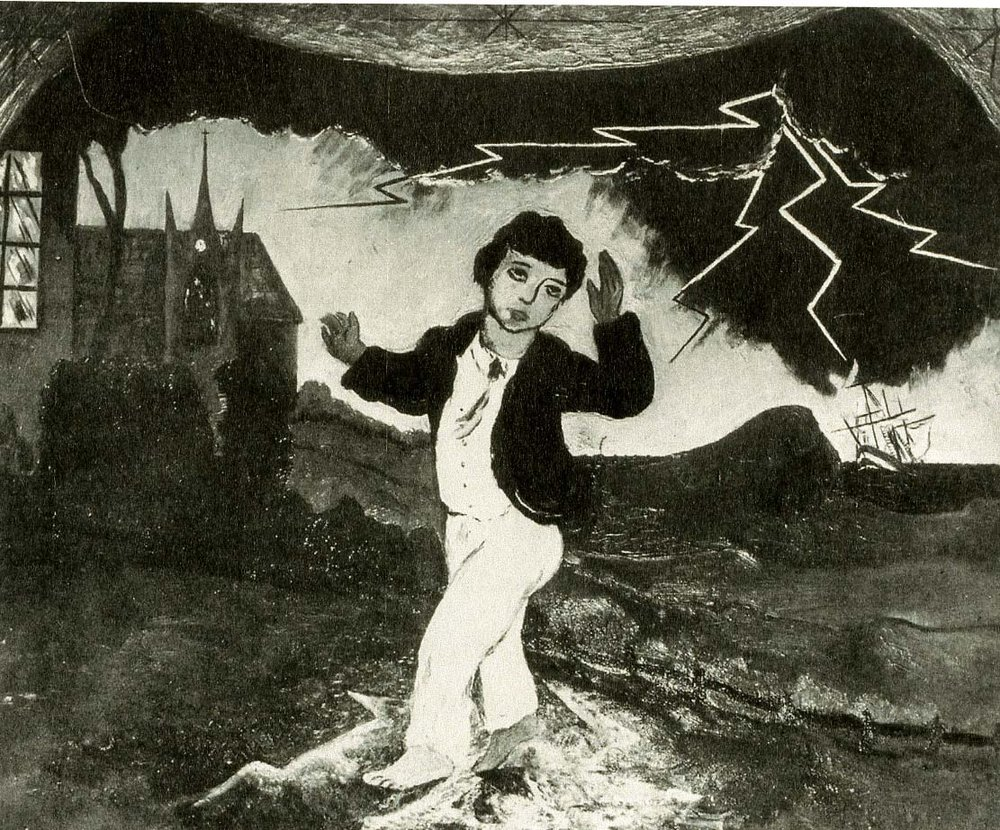 Boy Frightened by Lightening, 1923
