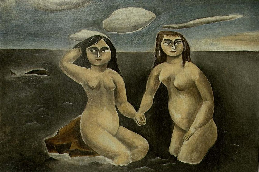 Sisters Frightened by a Whale, 1923