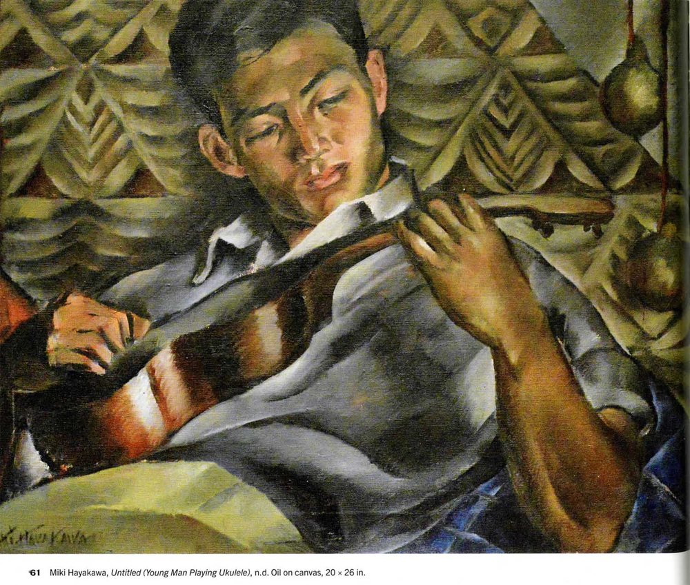 Young Man Playing Ukelele,  no date