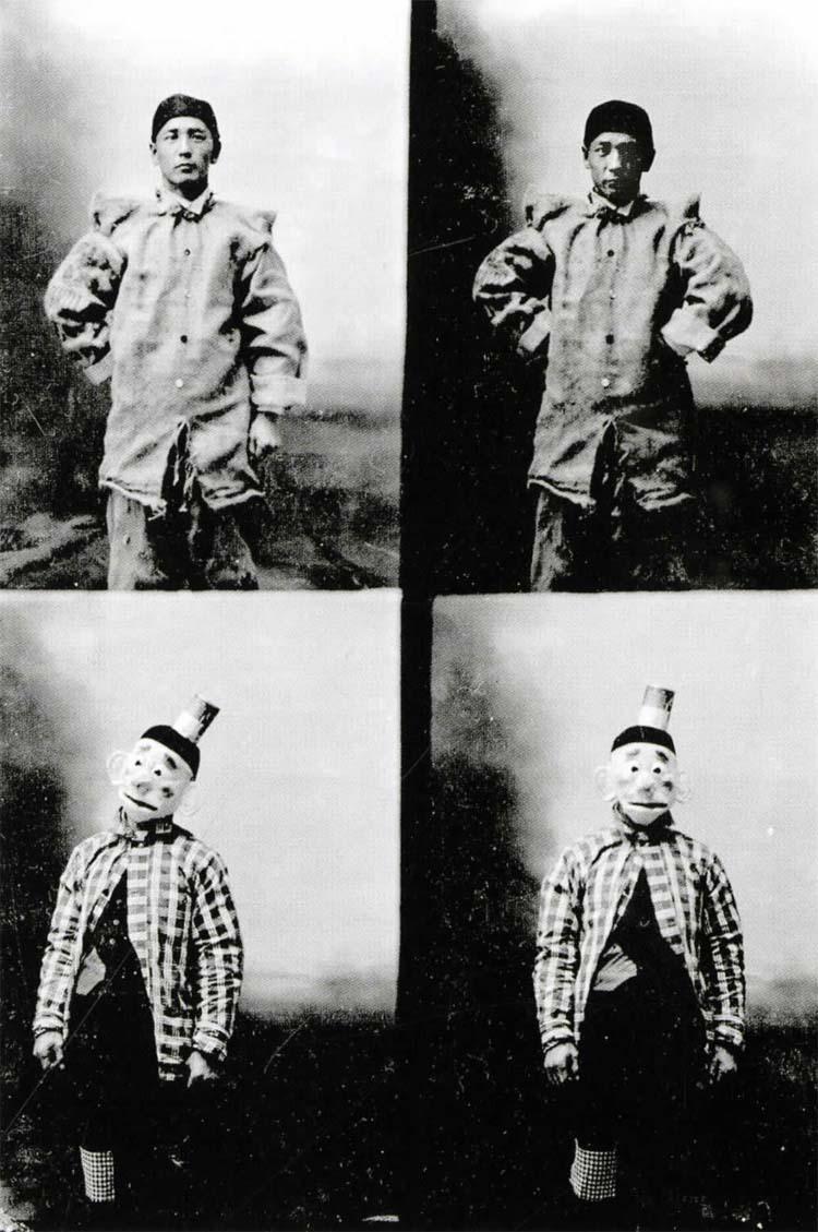 Matsura in Clown Costumes,  1908