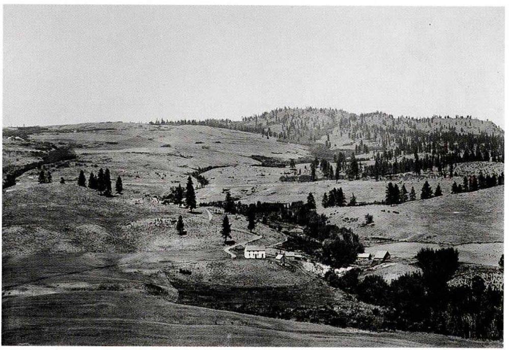 Landscape of an Okanogan homestead,  1910