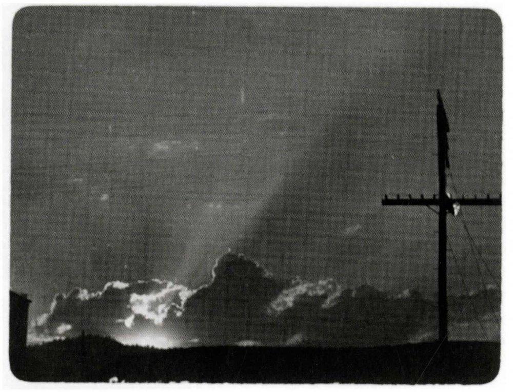Sunrise & Telephone Pole,  1909
