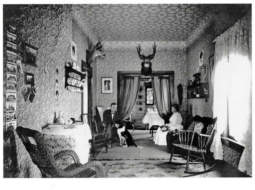 Interior of Judge W. C. Brown's Home,  1908