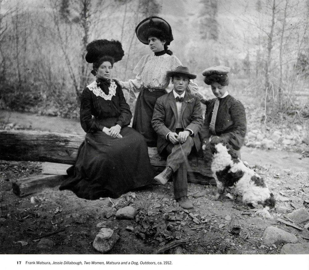 Jessie Dillabough, Two Women, Matsura & a Dog,  1912