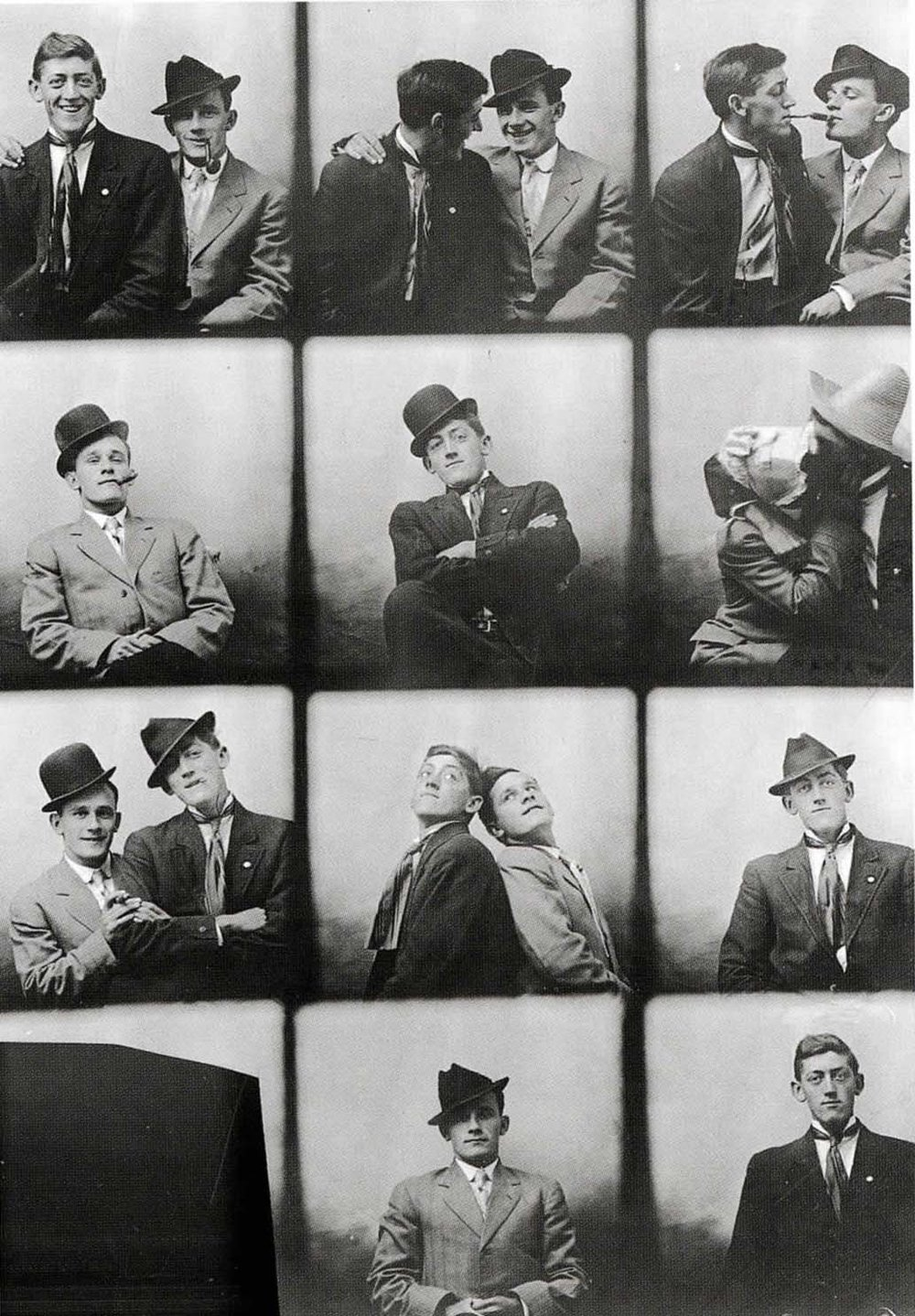 2 Young Men Pose,  1912
