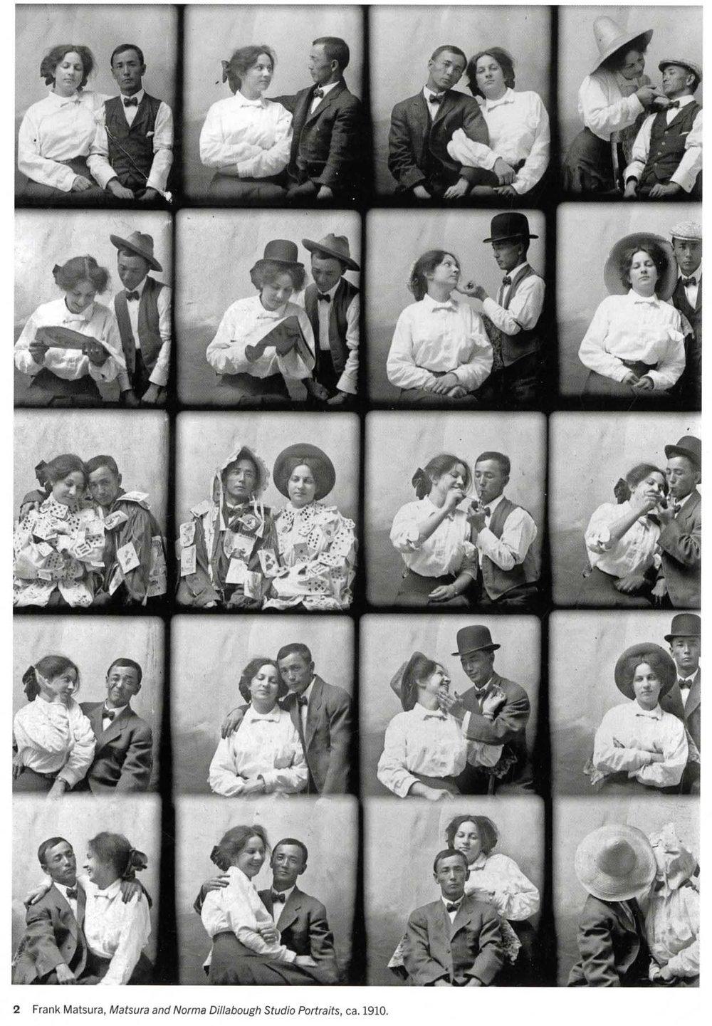 Matsura & Norma Dillabough Studio Portraits 1910