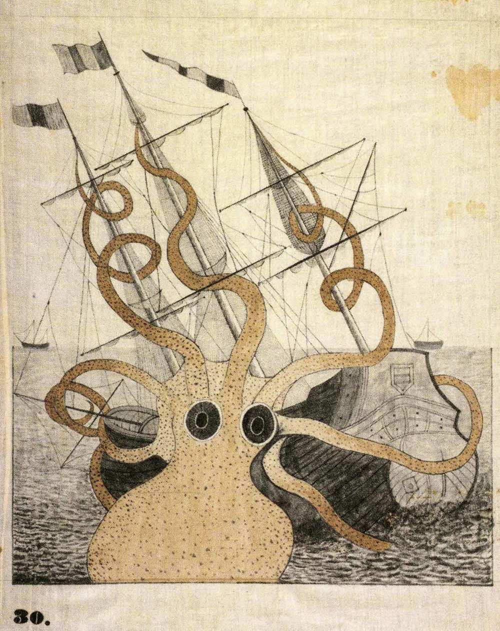 Colossal Octopus [after P. D. deMontfort],  1828-40