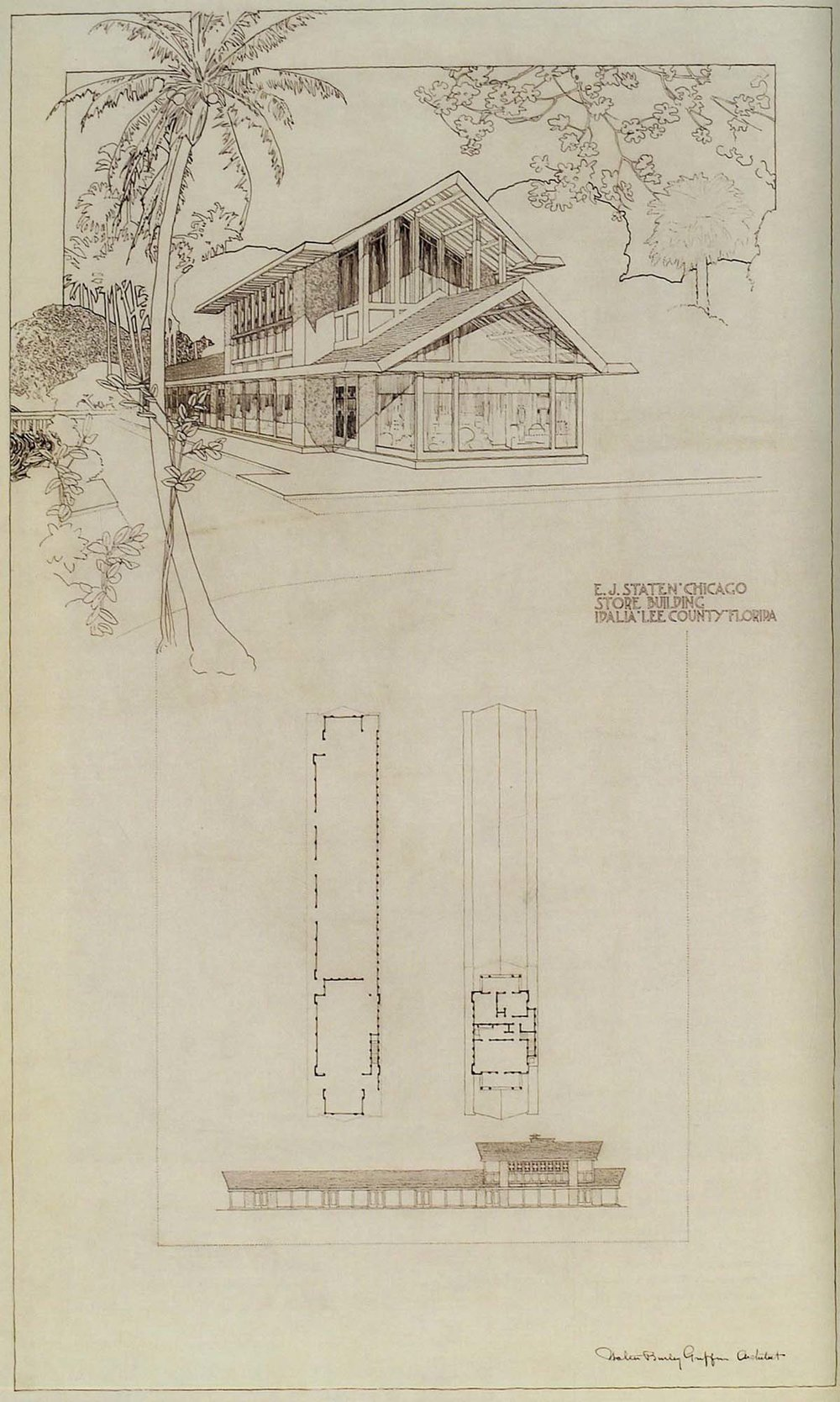 Staten Store, Idalia FL, W.B. Griffin Architect, 1911