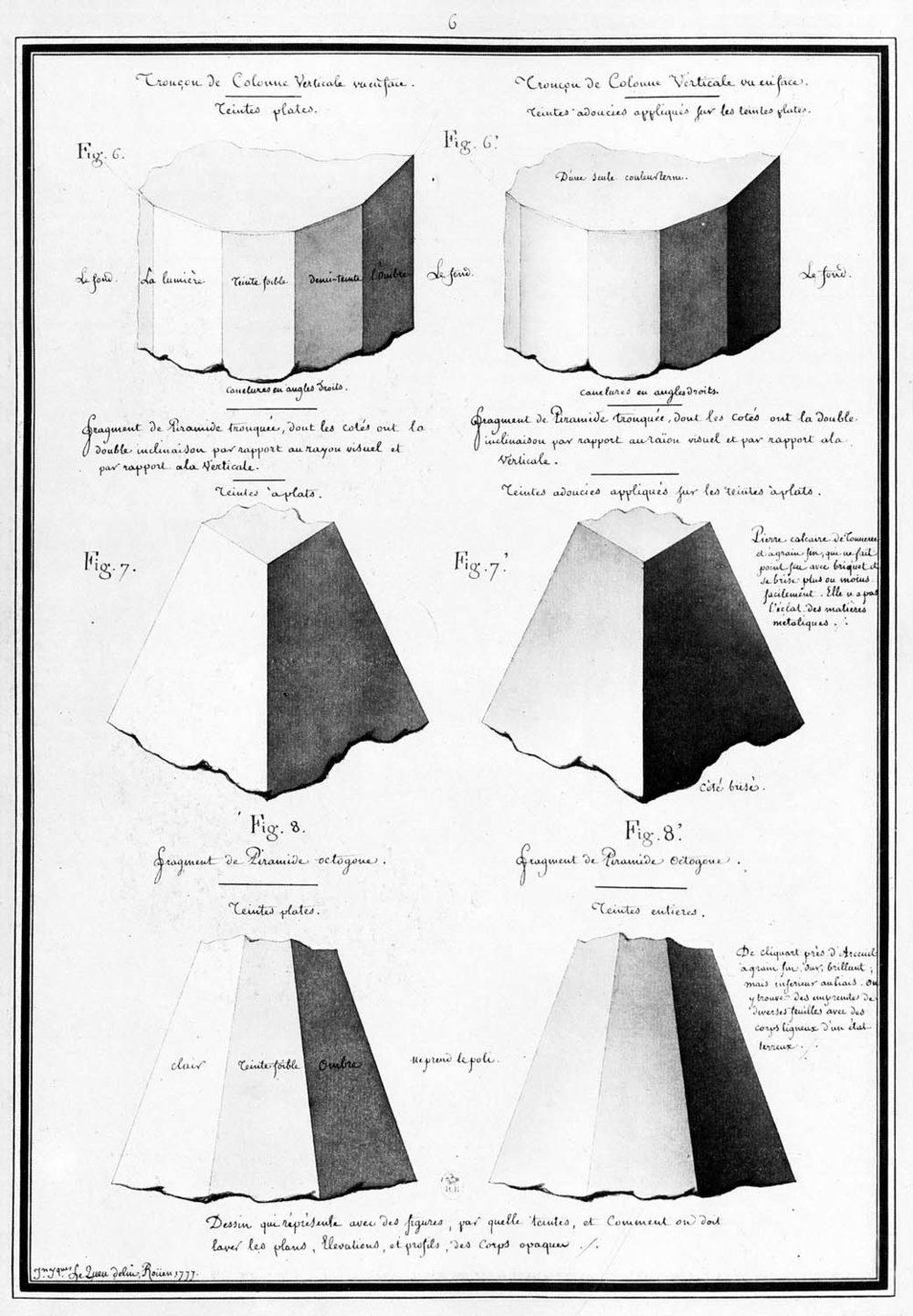 Fragments of columns & pyramids…  (1777)
