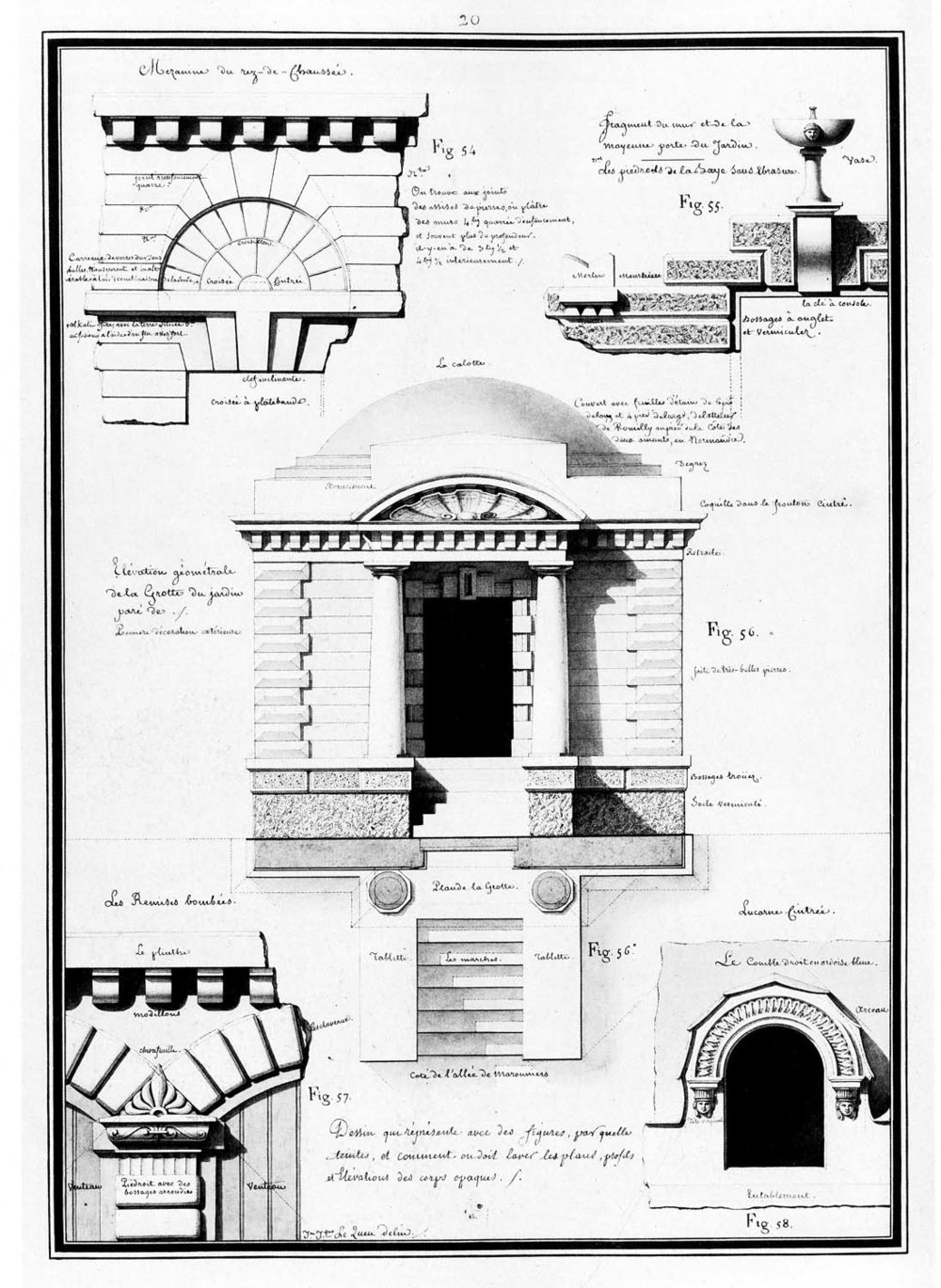 Ground floor mezzanine, dormer, grotto, Convex Mews (plan)…
