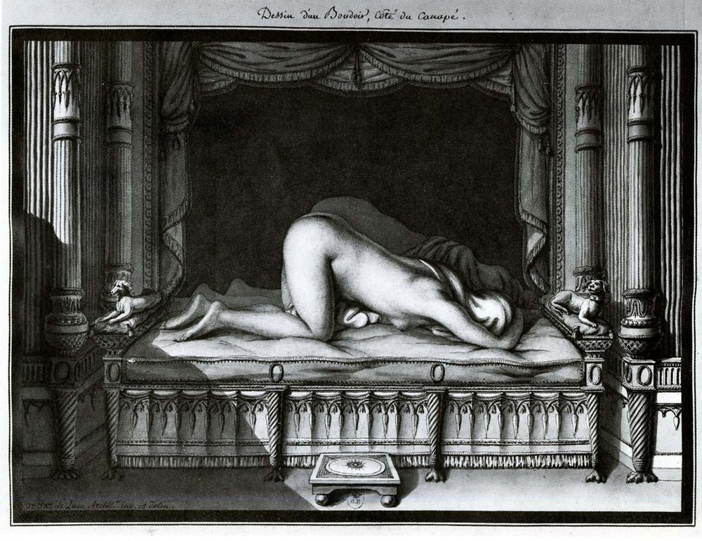 Design of a boudoir, the divan side