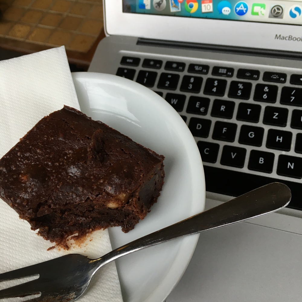 And ... chocolate. Btw, this is the brownie at Kaffeebar Oslo for all Berliners - SO GOOD!