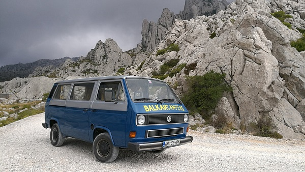 Meet Jaro, the humble 1985 Volkswagon Transporter T2. Named after the hero of a TV show that kept Yugoslavia in front of the screens in the 70s even on a sunny day or folk concert. Good looking, jumpy and freshly refurbished with low consumption.