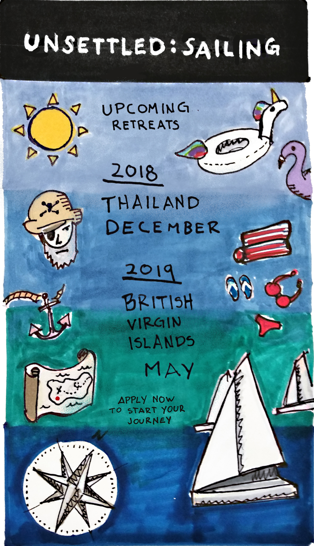 Unsettled: Sailing - DECEMBER 14 - 21, 2018MAY 11 - 18, 2019