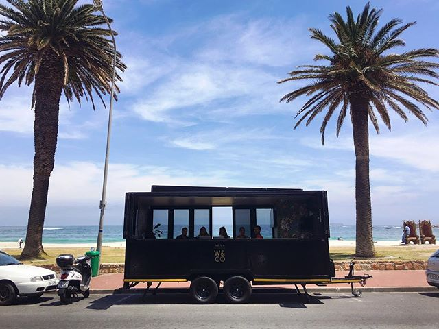 "Today, our #UnsettledCapeTown crew is taking the mobile office to a whole new level. We're parked in front font of Camps Bay beach for a day of coworking and workshops, in our favorite new truly ""mobile"" office, nicknamed Nova, courtesy of the great folks at @work_and_co! In the area? Come check us out. We're hard to miss ;) #beunsettled"