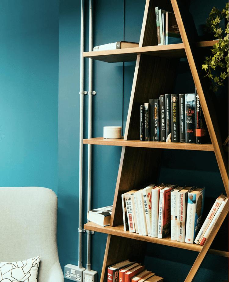 Designer office bookshelf