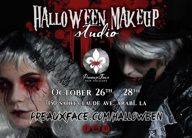 Our Halloween Makeup Studio booking page is now LIVE on our website for all of our clients. ☠️ 3 days only  Don't be caught dead without the perfect makeup and hair look this coming All Hallows' Eve. 🎃 Link in profile!
