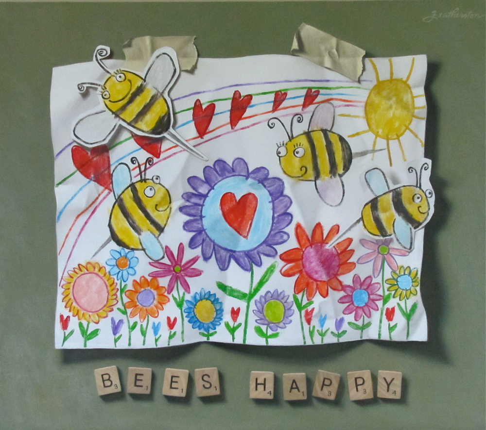 Young Artist Shows Promise: Bee Happy