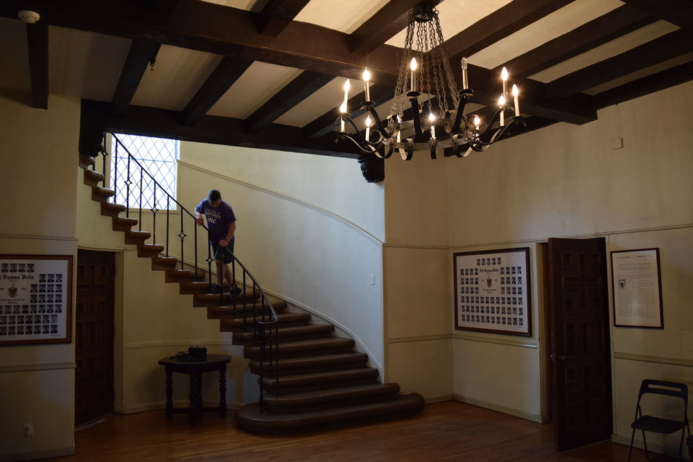 Conrad explores the house of the Delta Xi chapter of Phi Gamma Delta at UC Berkeley.