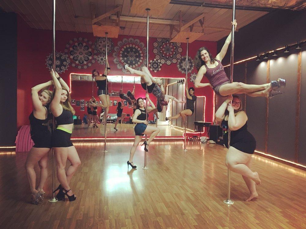 Pole dance in Asheville, NC