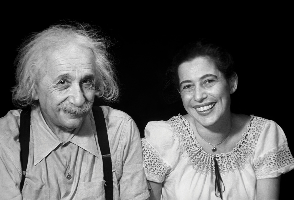 Albert Einstein & Ilse Sternberger, Princeton, New Jersey, 1950