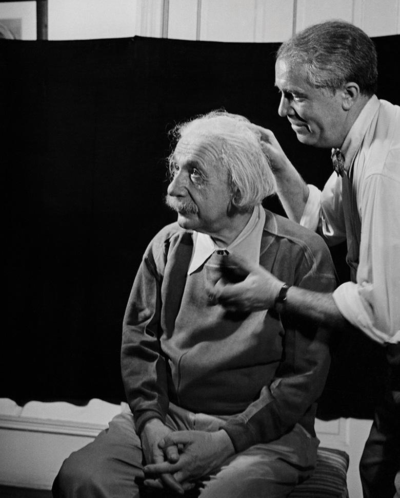 Albert Einstein & Marcel Sternberger, Princeton, New Jersey, 1950