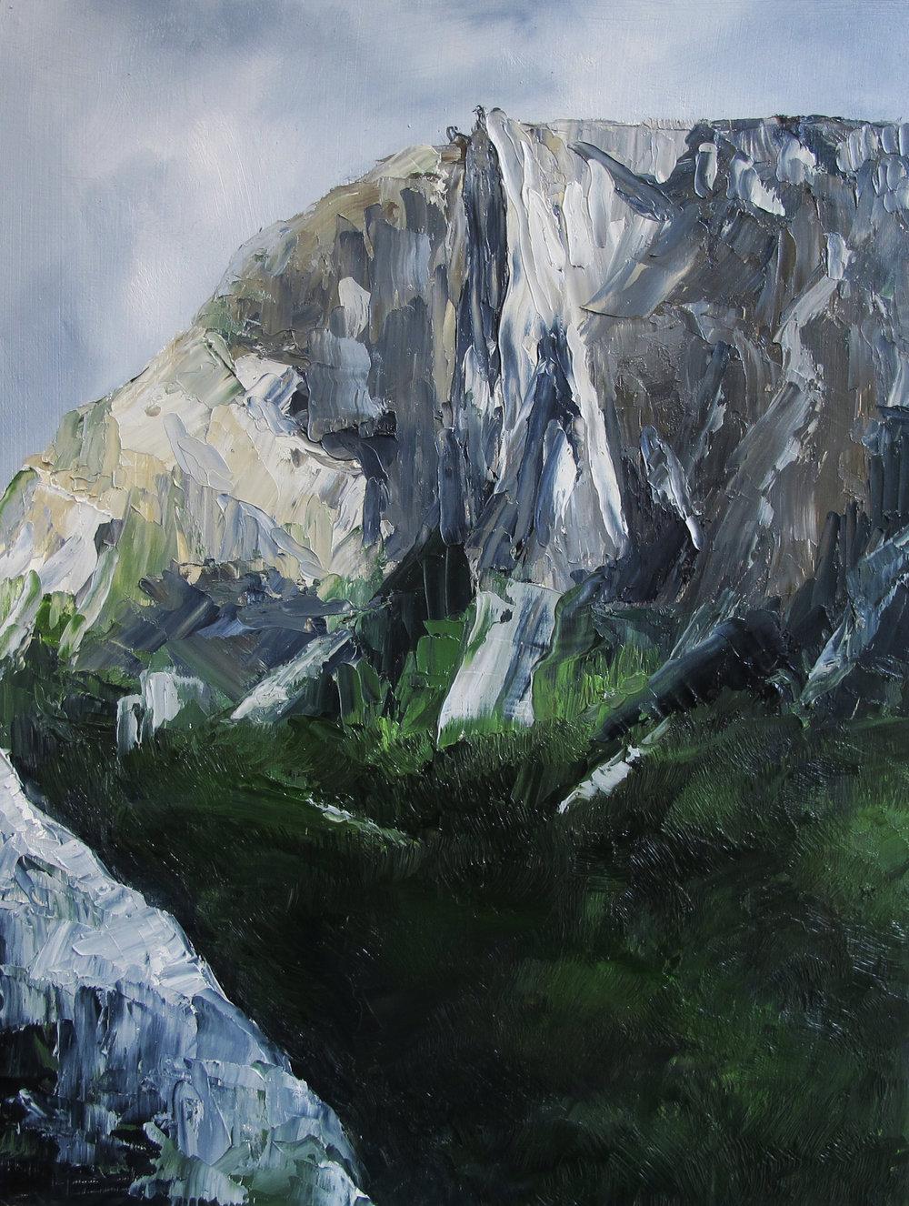 Yosemite Wilderness 2.  Oil on Panel.  12 x 9.