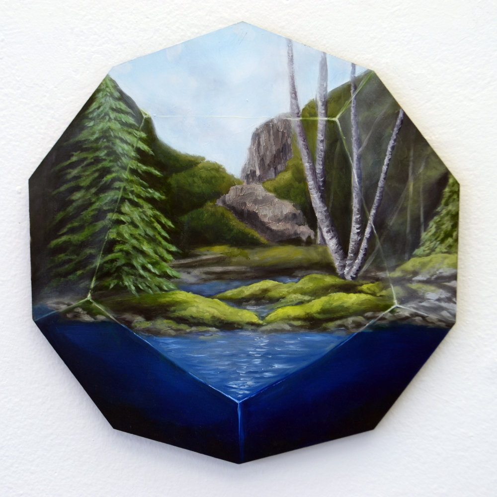 Theories of Everything.  Oil on Panel.   13.5 Diameter.