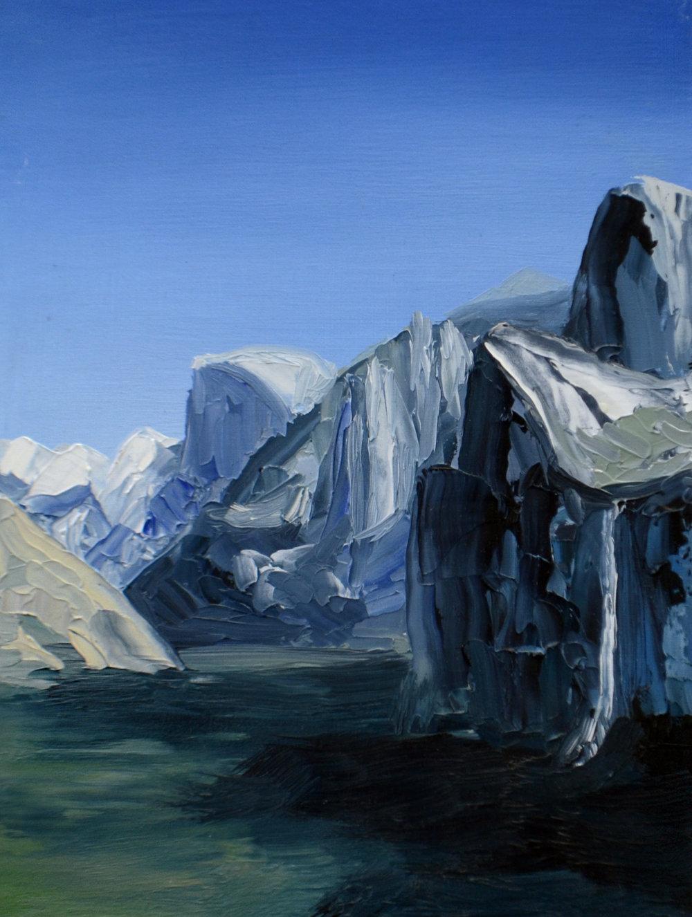 Yosemite Valley.  Oil on Panel.  8 x 6.