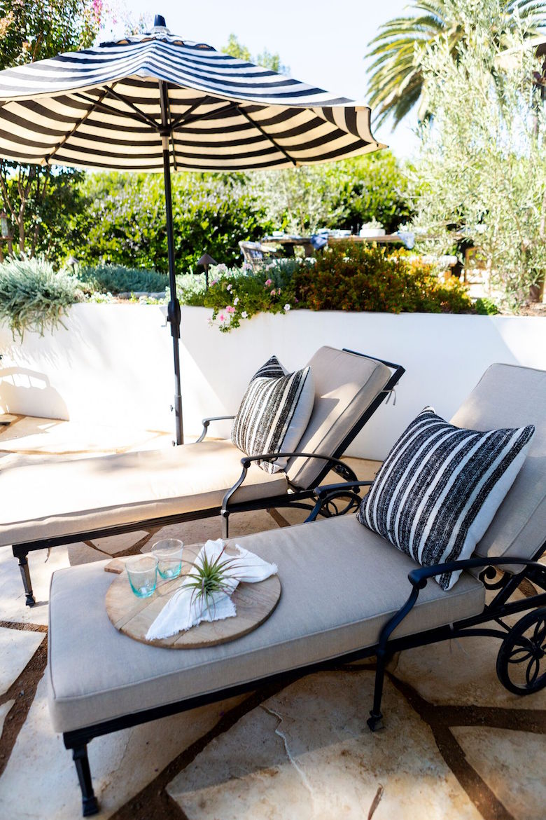 Pillows from our Summer collection match Sara's outdoor style perfectly.