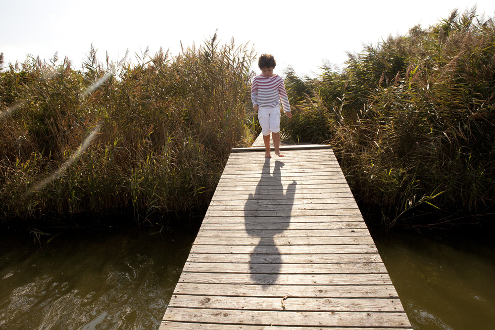 Westhampton Boy Walks the Dock