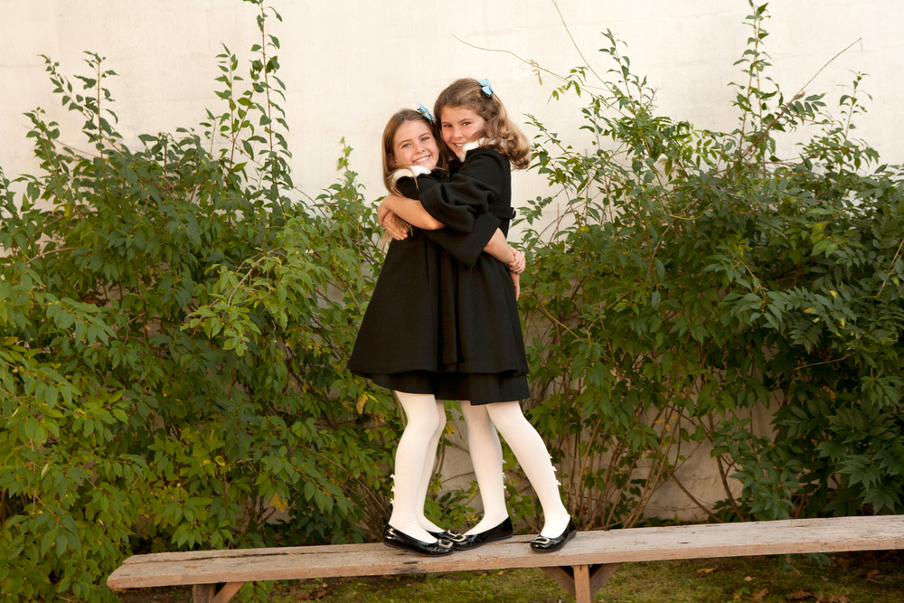 Sisters in Black Dresses