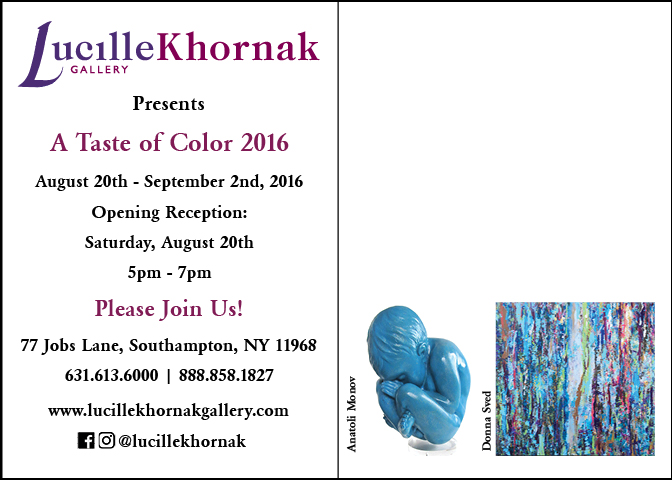 a taste of color invite