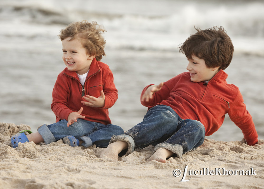 Brothers on the beach -LKPhotography