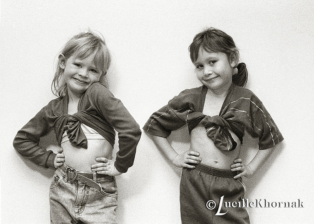 The above image is from my collection of my personal work - girls being girls and posing!