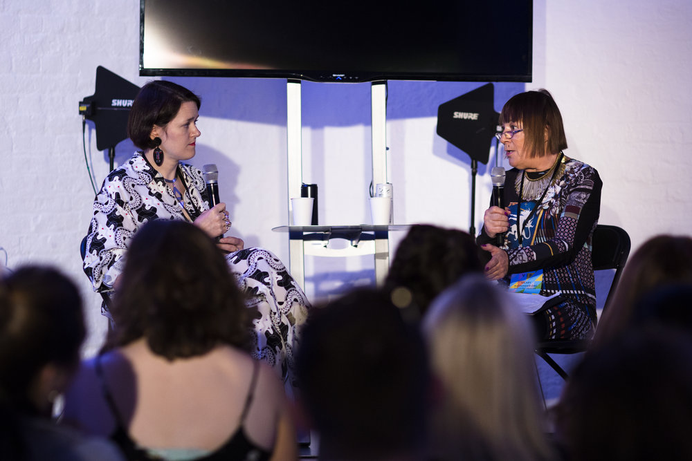 Holly Fulton in conversation with Hilary Alexander, Graduate Fashion Week 25th Anniversary.