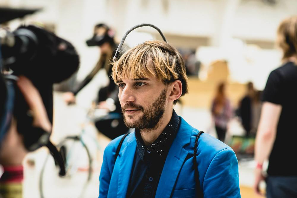 Neil Harbisson at I/O 2015.