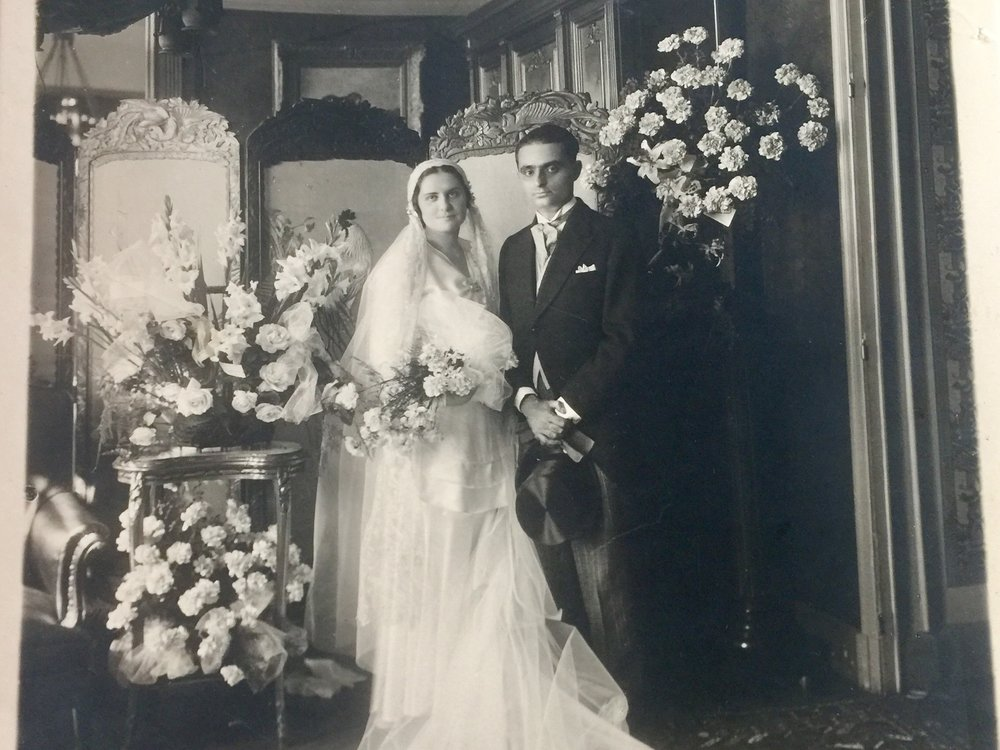 My great grandmother and great grandfather, on their wedding day.