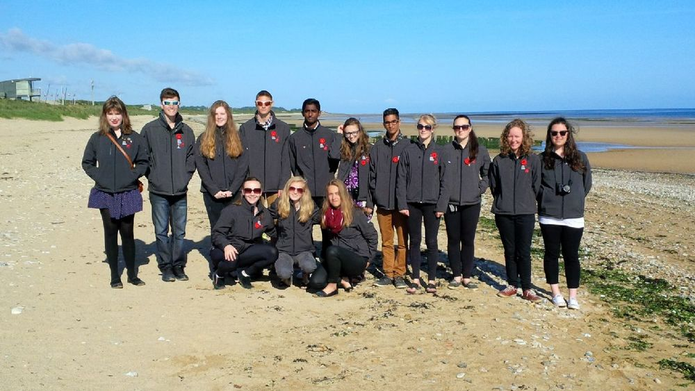 The Digital Historians on Juno Beach, 71 years to the day after the first Canadians landed here