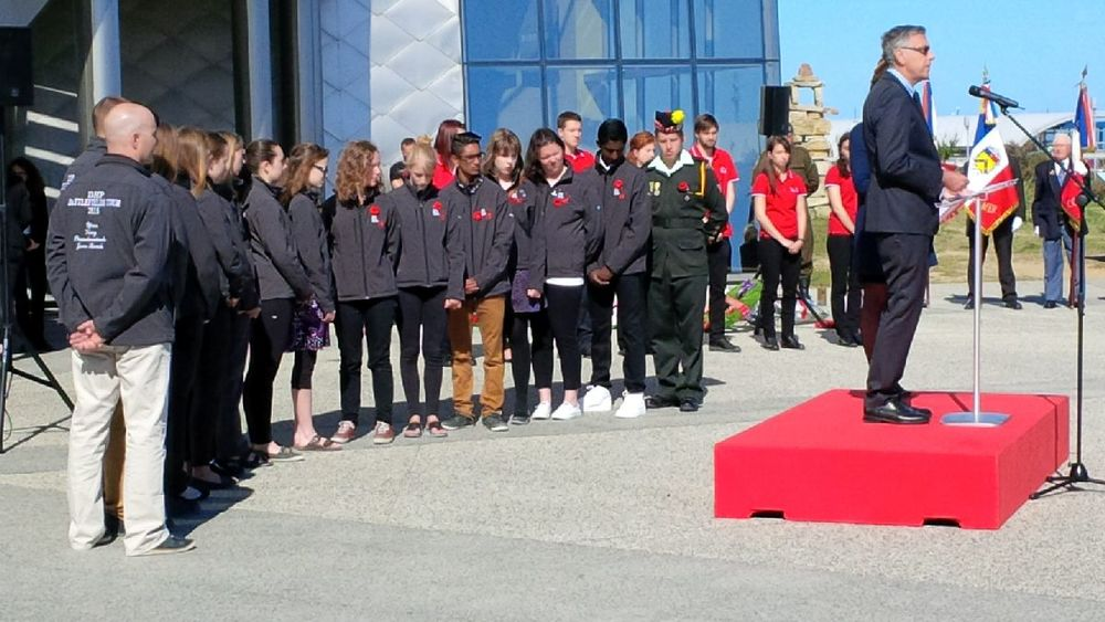 The Digital Historian Class of 2015 - official youth ambassadors at the D Day Ceremony at Juno Beach