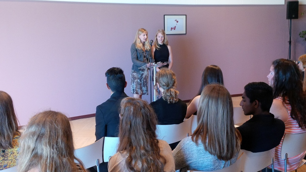 Digital Historian Students present their Veteran's biographies at the Juno Beach Centre