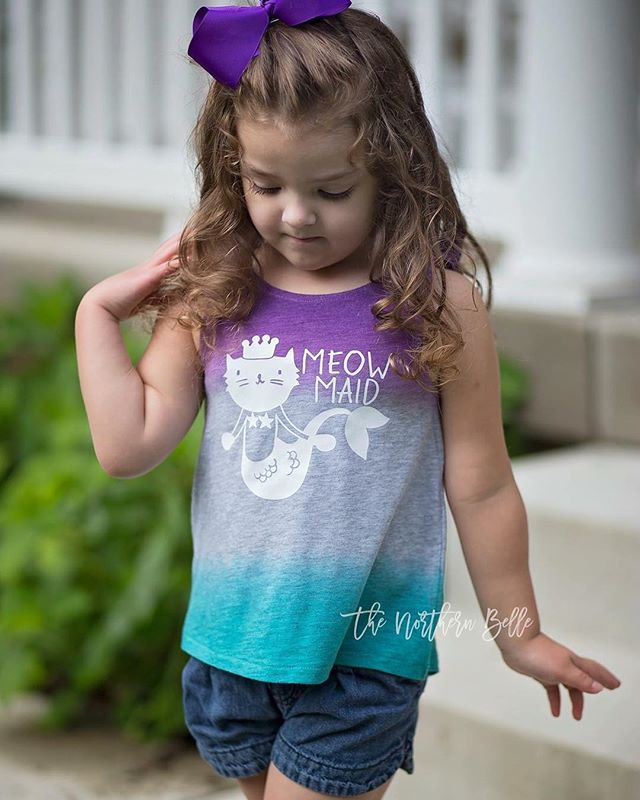 "Isn't @mthoman 's little one just the sweetest meow-made you've ever seen?? 😻😻 Today's Feature Friday deals are still 30% off when you use the code ""FeatureFriday"". Only at threadandgrain.com/featurefriday . . . . #threadandgrain #meowmaid  #mermaidlife #makersgonnamake #svg #silhouettecameo #svgfiles #cricut #vector #silhouette #silhouettestudio #dxf #silhouetteportrait #silhouettecameo3 #cutfiles #cricutexplore #vectorart #catshirts #catloversunite #tgfeaturefriday"