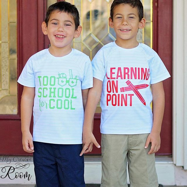 Back to school game is on point!  Aren't Alex's boys the cutest pair in their new #threadandgrain shirts?  And seriously, paired with that fabric?? 😍😍😍 Grab these designs and more today as part of our Feature Friday deals! Only at http://threadandgrain.com/featurefriday . . . #threadandgrain #backtoschool #schoolshirts #tooschoolforcool #learningonpoint #smartkids #svg #silhouettecameo #svgfiles #cricut #vector #silhouette #silhouettestudio #dxf #silhouetteportrait #silhouettecameo3 #cutfiles #cricutexplore #vectorart #tgfeaturefriday #cricutmaker #createwithcricut
