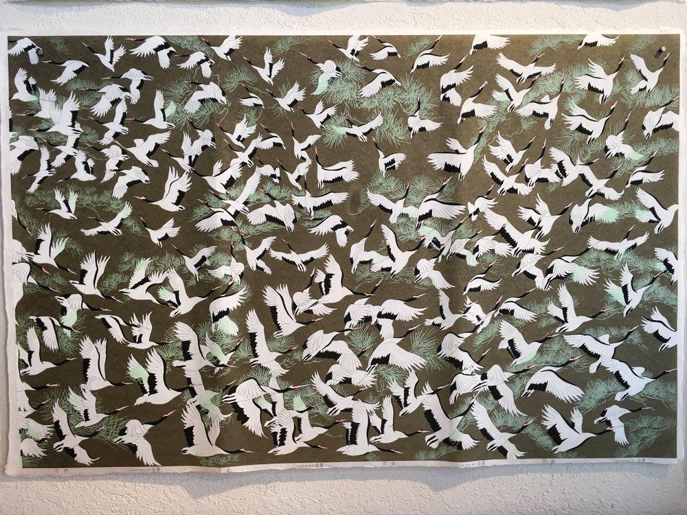 100 Cranes Green