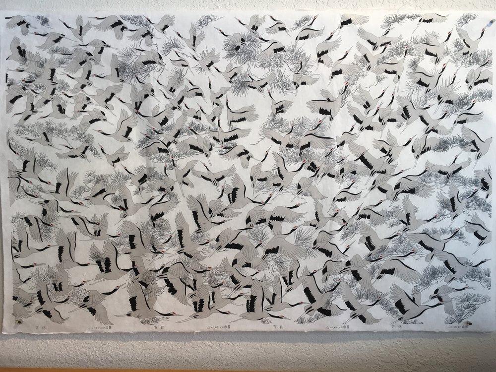100 Cranes White